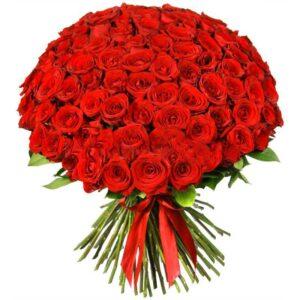 101 красная роза 65 см